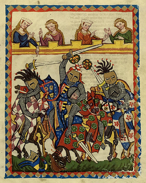 The Melee; muich more dangerous than a joust with special armour.