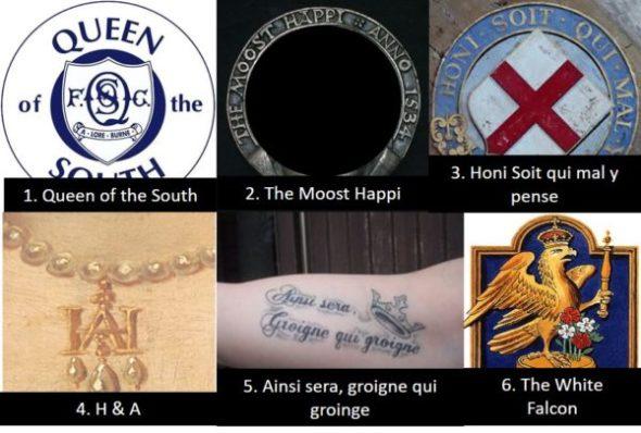 Anne Boleyn Badges and mottos