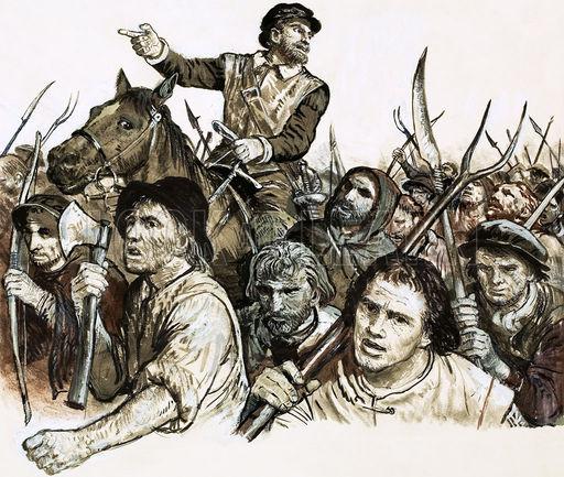 Robert Kett leading a peasants' revolt