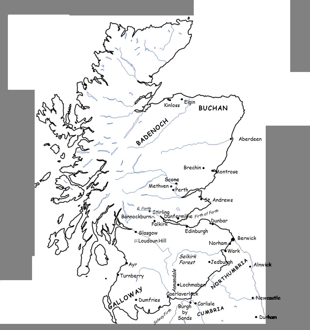 1290-1327 Map of Scotland